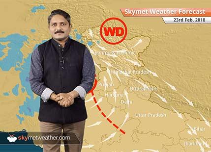 23 फरवरी के लिए मौसम पूर्वानुमान: पंजाब-राजस्थान में बारिश, कश्मीर-हिमाचल में बर्फबारी के आसार..