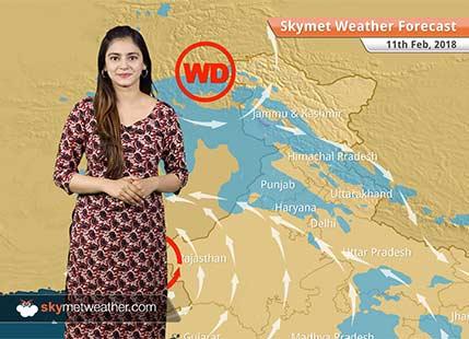 Weather Forecast for Feb 11: Rain and snow in Shimla, Nainital, Manali, Srinagar, Rain in Delhi, Chandigarh, Lucknow