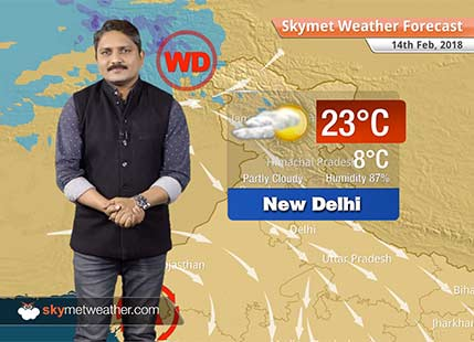 Weather Forecast for Feb 14: Maximums to rise over Delhi, East Uttar Pradesh, Bihar and Jharkhand