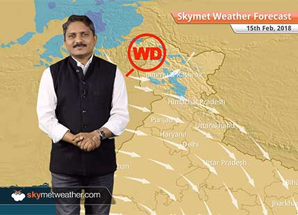 Weather Forecast for Feb 15: Mercury to rise over East UP, MP, Bihar, rain and snow likely in Kashmir