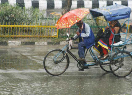 Rain in Uttar Pradesh and Bihar