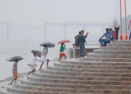 Rain in Varanasi