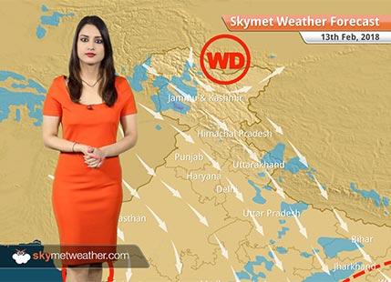 Weather Forecast for Feb 13: Rain, snow in Kashmir, Himachal, Dry weather in Delhi, Lucknow, Bengaluru, Chennai