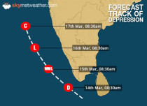 Depression in Arabian Sea to persist; heavy rain in Lakshadweep, Kerala, Tamil Nadu