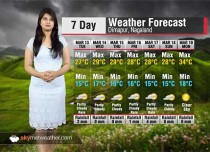 7 Day Weather Forecast for Nagaland