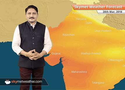 Weather Forecast for Mar 28: Rain likely in Kashmir, Northeast India; heatwave to persist in Gujarat
