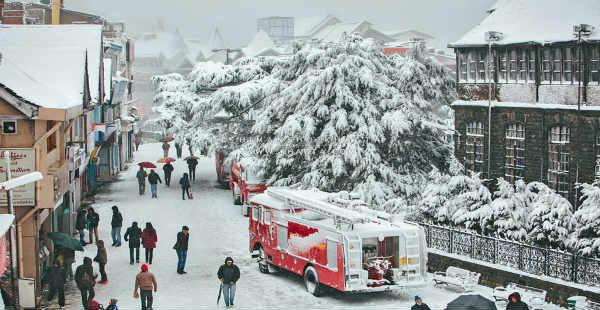 Snowfall in Dharmshala