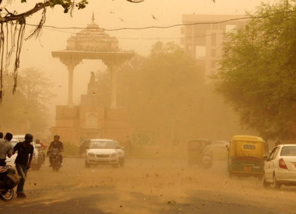 Dust-storm in Rajasthan
