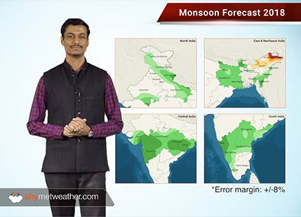 Have a look at the regionwise forecast for Monsoon 2018 in India