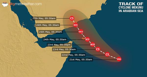 Cyclone Mekunu in Arabian Sea to hit Oman, Yemen as a severe cyclonic storm