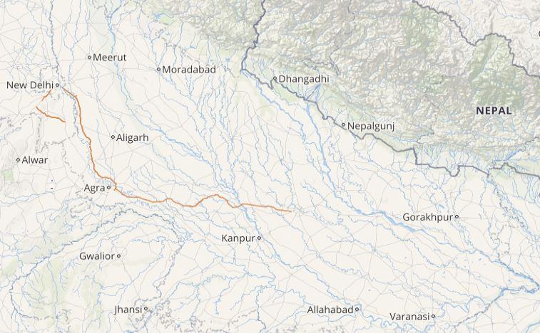 Lightning and rain in Uttar Pradesh