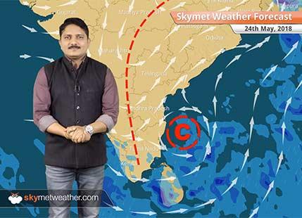 24 मई मौसम पूर्वानुमान: केरल और कर्नाटक में बारिश जबकि राजस्थान और मध्य प्रदेश में लू का प्रकोप..