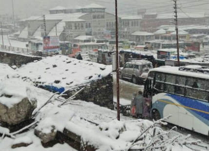 Snowfall in North India