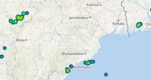 lightning in wb and odisha