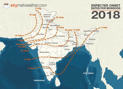 Progress of Monsoon 2018