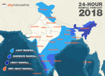 Southwest Monsoon forecast for June 15 across India