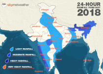 Southwest Monsoon forecast for June 19 across India