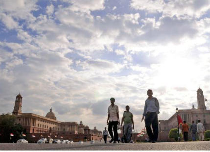 Cloudy weather in Delhi and NCR
