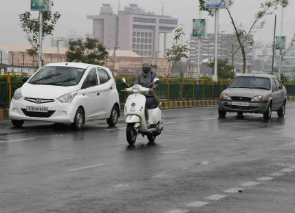 Monsoon rains in Gujarat