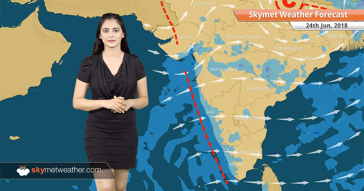 Skymet Weather Map Weather Forecast for June 24: Rain in Mumbai, Surat, Mangaluru  Skymet Weather Map