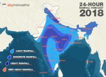 24-Hours-Rainfall across India