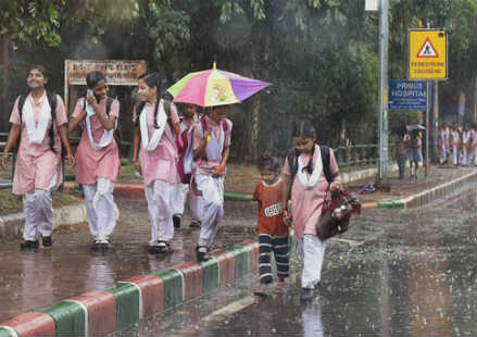 Delhi rains and thundershowers