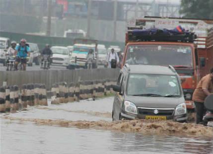Flooding rain in Gorakhpur