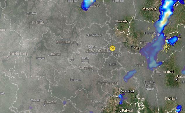 Lightning and Thunderstorm in Delhi