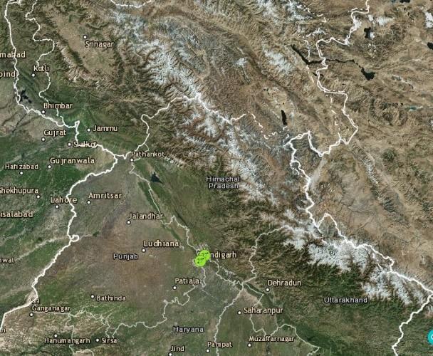Lightning in Uttarakhand and Himachal Pradesh
