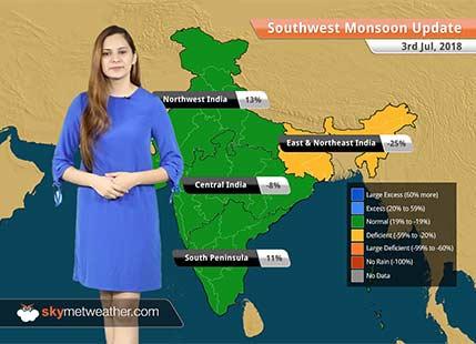 Monsoon Forecast for July 4, 2018: Heavy rain in Punjab, Himachal, Uttarakhand, Assam, Sikkim