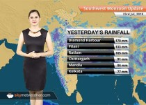 Monsoon Forecast for July 24, 2018: Heavy rain in Madhya Pradesh, East Rajasthan and parts of Gujarat