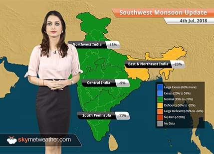 Monsoon Forecast for July 5, 2018: Heavy rain in Mumbai, Konkan and Goa, Coastal Karnataka, South Gujarat