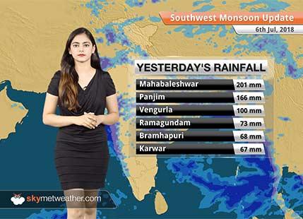 Monsoon Forecast for July 7, 2018: Heavy Monsoon rain in Konkan and Goa, Coastal Karnataka