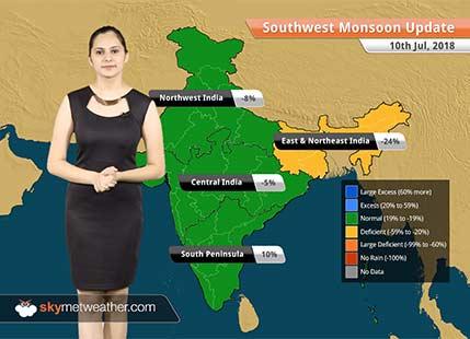 Monsoon Forecast for July 11, 2018: Heavy rain in Mumbai, South Gujarat, parts of MP