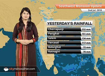 Monsoon Forecast for July 3, 2018: Rain in UP, Bihar, Kashmir, Uttarakhand