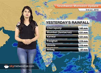Monsoon Forecast for July 4, 2018: Rain in Delhi, Kashmir, Punjab, Himachal