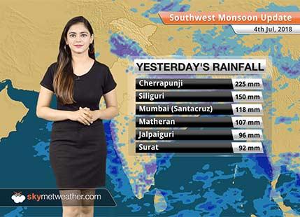 Monsoon Forecast for July 5, 2018: Rain in Mumbai, Punjab, Haryana, Bihar, Jharkhand, Odisha
