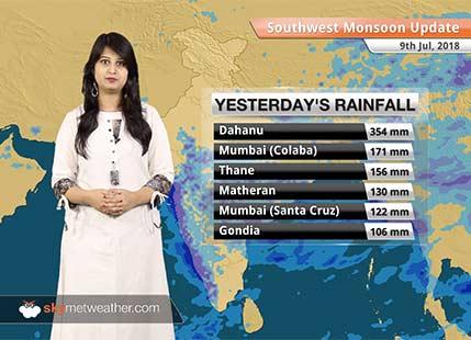 Monsoon Forecast for July 10, 2018: Rain in Mumbai, Madhya Pradesh, Konkan Goa, Chhattisgarh