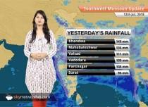 Monsoon Forecast for July 13, 2018: Rain in parts of Gujarat, Madhya Pradesh, Rajasthan