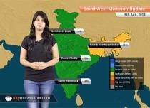 Monsoon Forecast for August 10, 2018: Rain in Chhattisgarh, Madhya Pradesh, Rajasthan