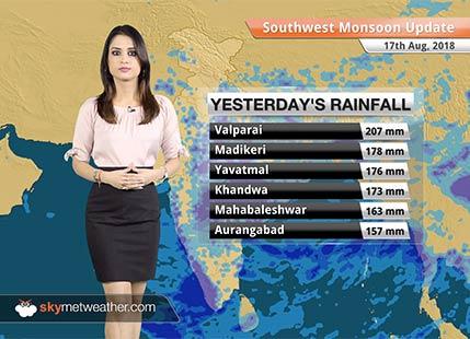 Monsoon Forecast for Aug 18, 2018: Flood in Gujarat, Kerala; Heavy rain in Coastal Karnataka, Konkan & Goa