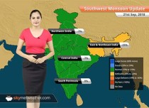 Monsoon Forecast for Sep 22, 2018: Heavy rain in parts of Chhattisgarh, Vidarbha and Telangana