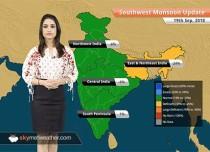 Monsoon Forecast for Sep 20, 2018: Monsoon rains in Odisha, West Bengal, Karnataka