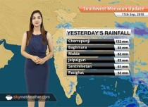 Monsoon Forecast for Sept 12, 2018: Rain in Northeast India, West Bengal, Himachal