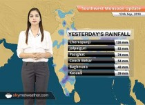 Monsoon Forecast for Sept 14, 2018: Rain in Sub-Himalayan West Bengal, Sikkim, Assam and Meghalaya