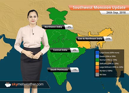 Monsoon Forecast for Sep 25, 2018: Heavy rain in Himachal Pradesh, Uttarakhand to continue