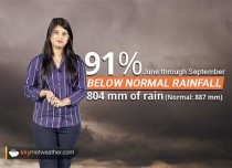 Weather Forecast for Oct 2: Southwest Monsoon Performance 2018, season ends at 91 percent