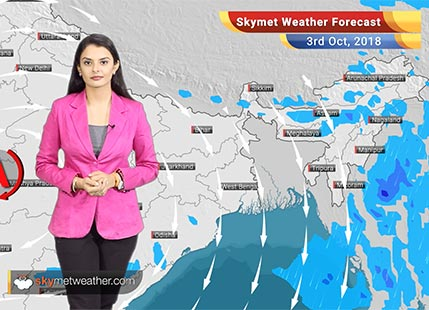 Weather Forecast for Oct 3: Rain in Kerala, Tamil Nadu; hot weather in North and Central India