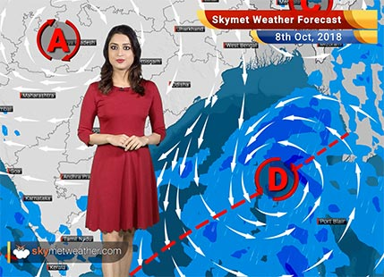 Weather Forecast for Oct 8: Rain in Chennai, TN, Kerala, Coastal Karnataka, hot in Kutch, West Rajasthan