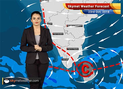 Weather Forecast for Oct 23: Rain in Kerala, Tamil Nadu, cool mornings for Northwest India including Delhi